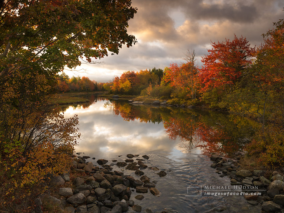 Autumn Foliage, Northeast Creek, Mount Desert Island, Maine, USA