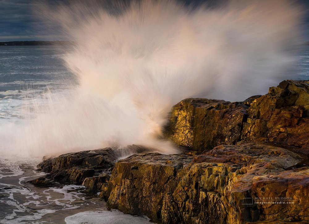 Rocky coastline of Acadia National Park, Maine, USA