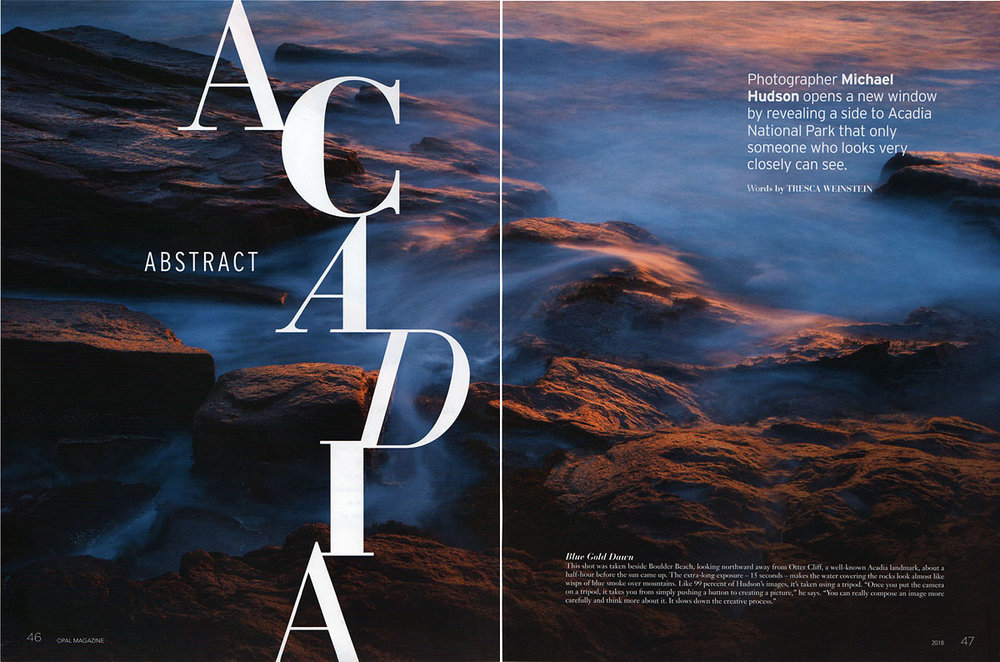 Opal Magazine 2018- Abstract Acadia feature