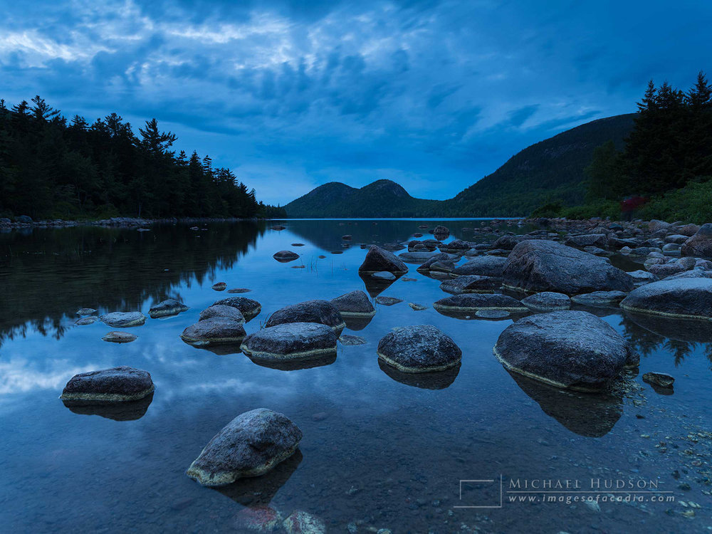 Blue dusk at Jordan Pond
