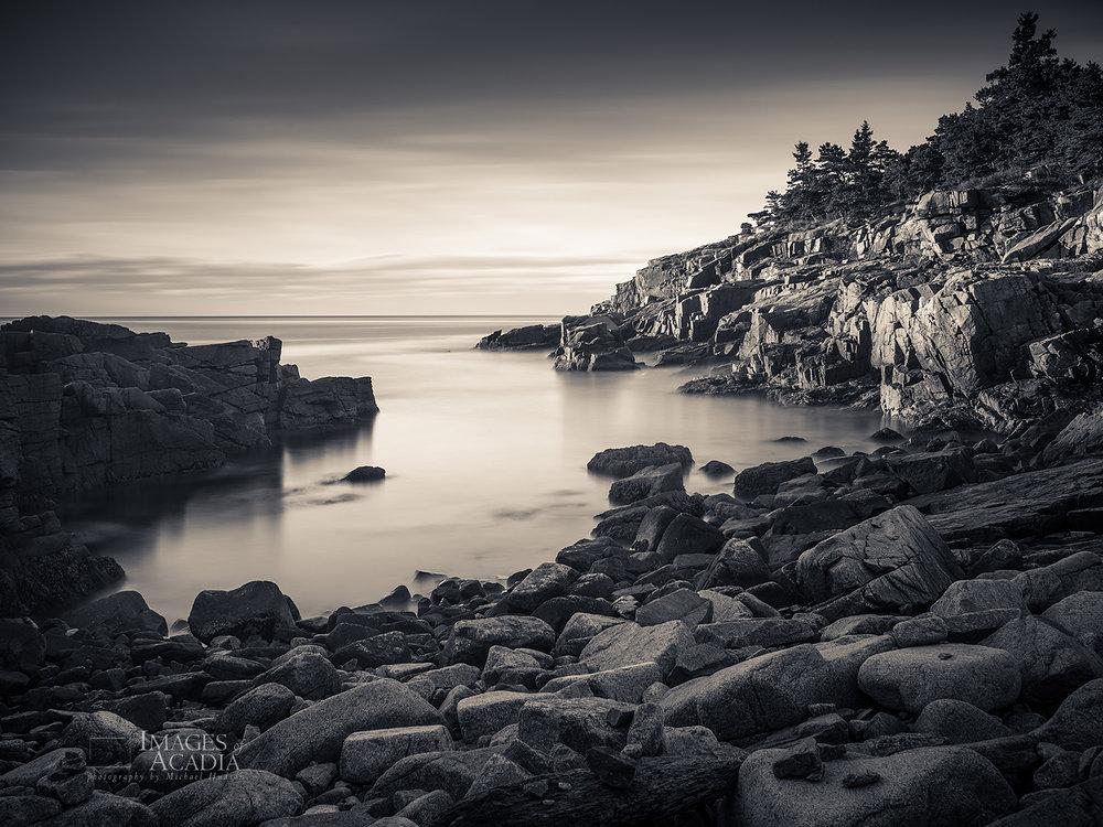 Early morning along the coast of Acadia