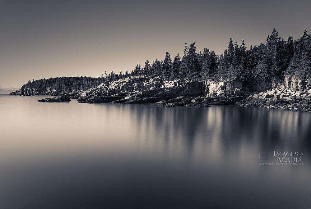 Sunrise along the east coast of Acadia