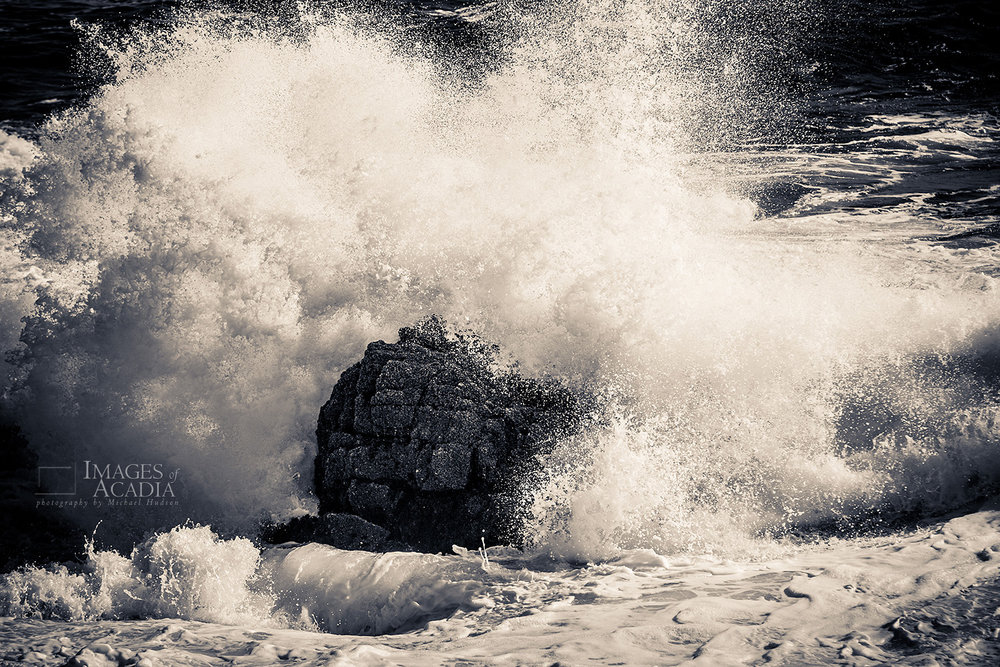 Waves crashing in at Otter Point