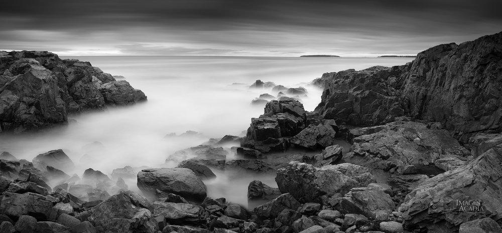 Rocky coastline of Acadia National Park
