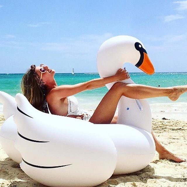 Purchase your @sunnylifeaustralia swan in store today 🌴@fashionisminepassion @sunnylifeaustralia says; Saturdays are perfect for swanning around so grab your swan in time for the weekend 🌼 #sunnylife #sunnylifeaustralia☀🍉🍍👙 #sunnylifeaustralia #love #beach #swan #sun #summer #ocean