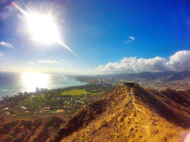 Bring water with you, Honolulu's skyline is worth the hike.