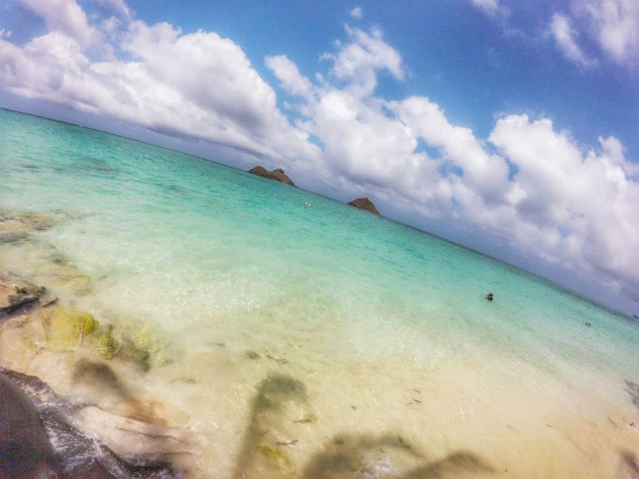 This was my favorite beach. There was no sand, but who needs it? you might wanna check out Kailua Beach as well.