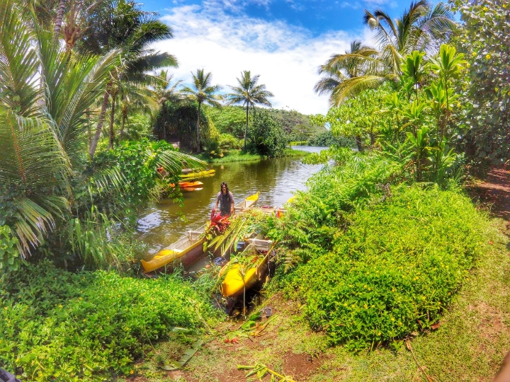 In the Village you will see how Polynesians used to live back then in the island. You can rent a kayak right there and explore the area. The hike to the Secret Falls is beautiful.