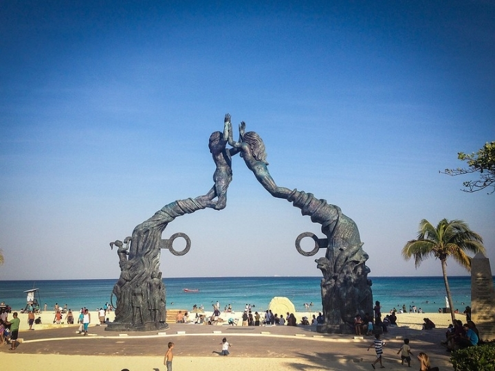 """If you are into shopping, Playa del Carmen is the best place for it. You can also contemplate the """"voladores de papantla"""" or hang out in this beautiful beach."""