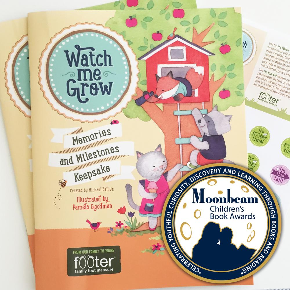 Moon Beam Award-Watch Me Grow by Footer Family Foot Measure-illustrated by Pamela Goodman.jpg