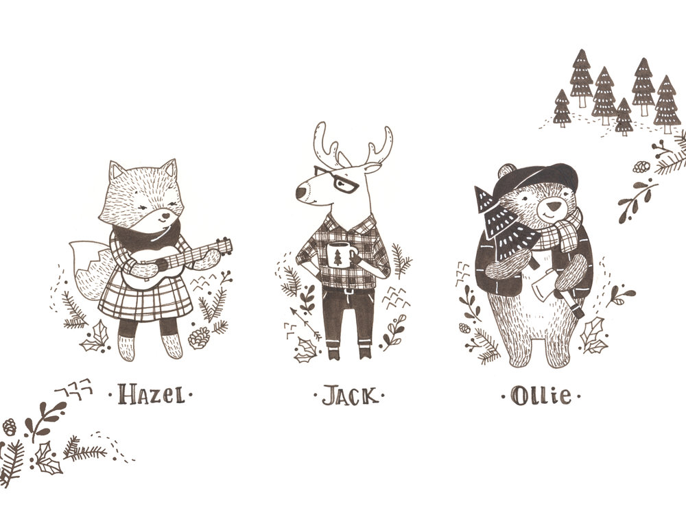 Hipster Woodland Gang by Pamela Goodman.jpg