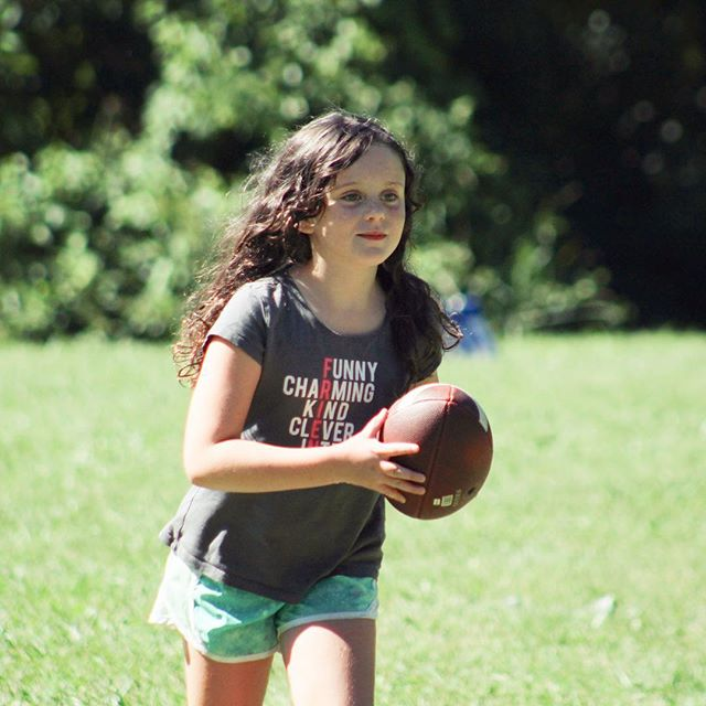 Dear @urjcranelakecamp  How is this pic even possible?!? 1. She's running...ok we've seen that. But... 2. While holding a football?! 3. While smiling?!?!?! Every pic we've seen over the last week + has shown a newfound confidence where she is almost unrecognizable. I'm so frikkin excited for her...and grateful to CLC!!! @debbyshriber @patienceorobello  #summahtimeforever