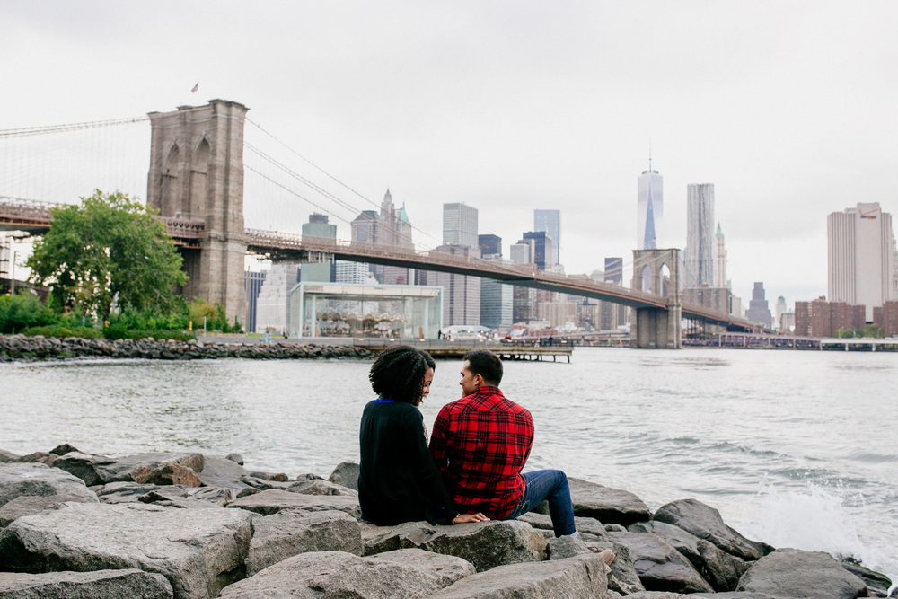 Dumbo -   A charming,old,industrial city with the most incredible close up views of The Brooklyn Bridge and The Manhattan Bridge. Cobblestone streets for days!