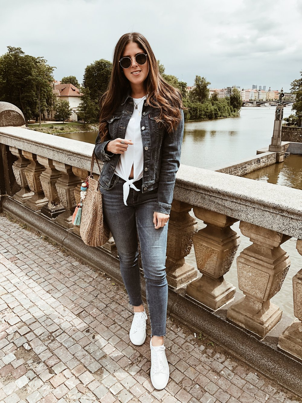 Prague, 2018. Wore jeans for a whole denim look!