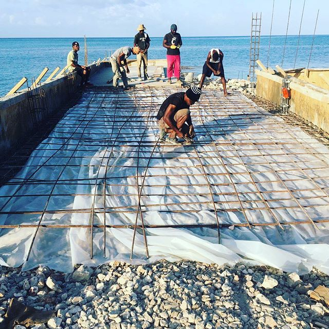 Pier Construction is well underway! This is a transformational open door to economic development & hope to all of western La Gonave island, Haiti!