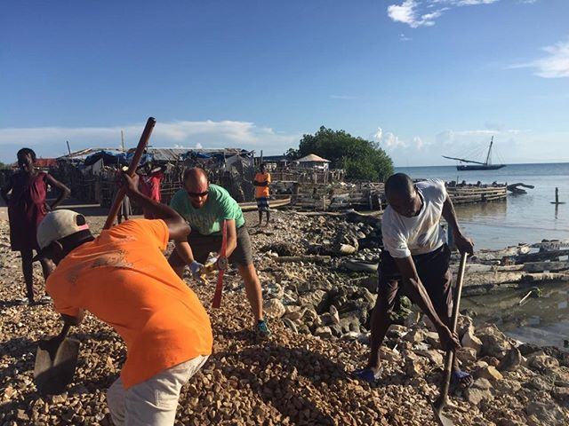 Building a bridge...literally....in Grand Vide, Haiti with our community. One step at a time. Arise, shine!