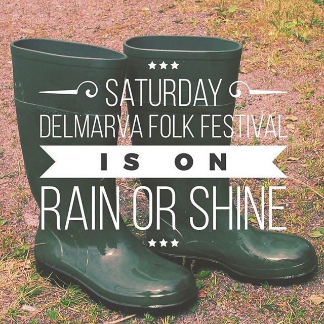 There may be mud but we're convinced there'll be sun! Come out for a great festival out on the farm. #rainorshine @delfolk #folkfest #wxde