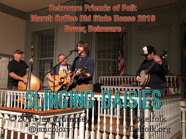 @delfolk Slinging Daisies from Sussex Co Delaware sounds pretty dang good in the Old State House- last concert of this winter season! #folk #supportlocalmusic