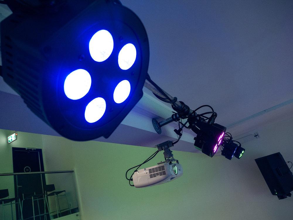ADJ programmable LED stage lighting
