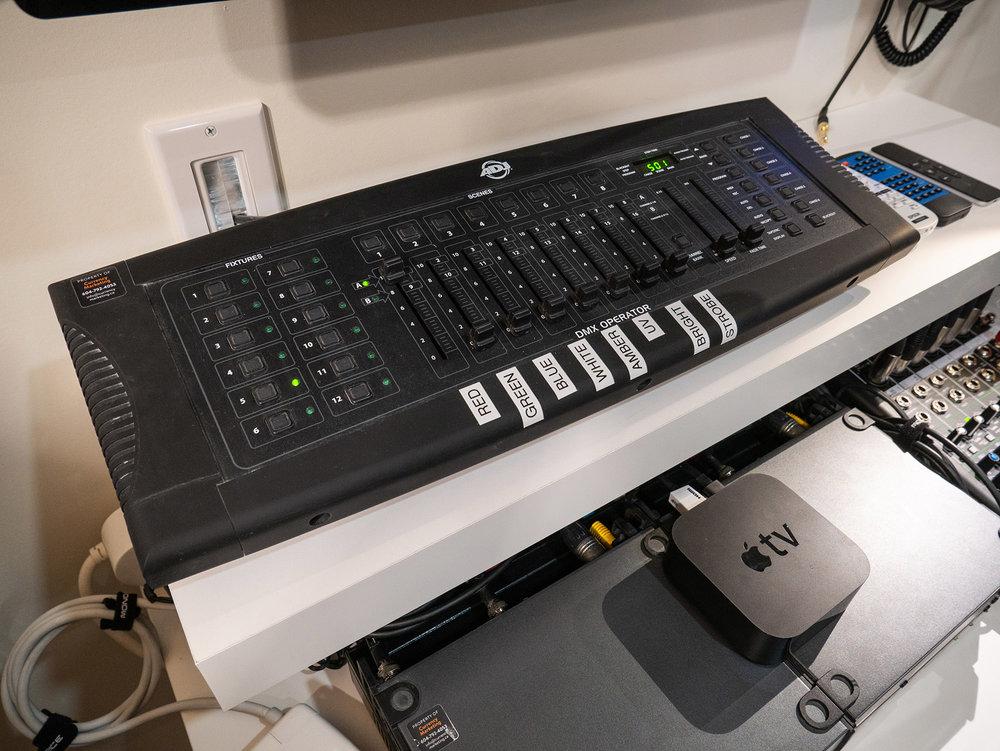 ADJ DMX Operator intelligent lighting controller and Apple TV