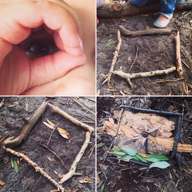 Take a picture with your mind / Make it with your hands #natureeducation #wisdomshuffle #forestschool #natureart #natureplay #bushkinder #natureconnection #photography #naturephotography #bushschool