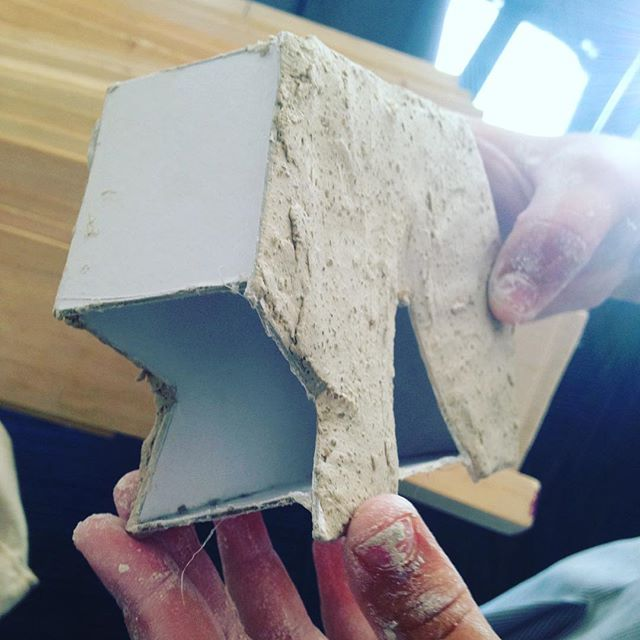 Model cladding tree house design @ design school #concrete #designschool #architecture #modelmaking #cladding #STEAM #design @wenonaschool