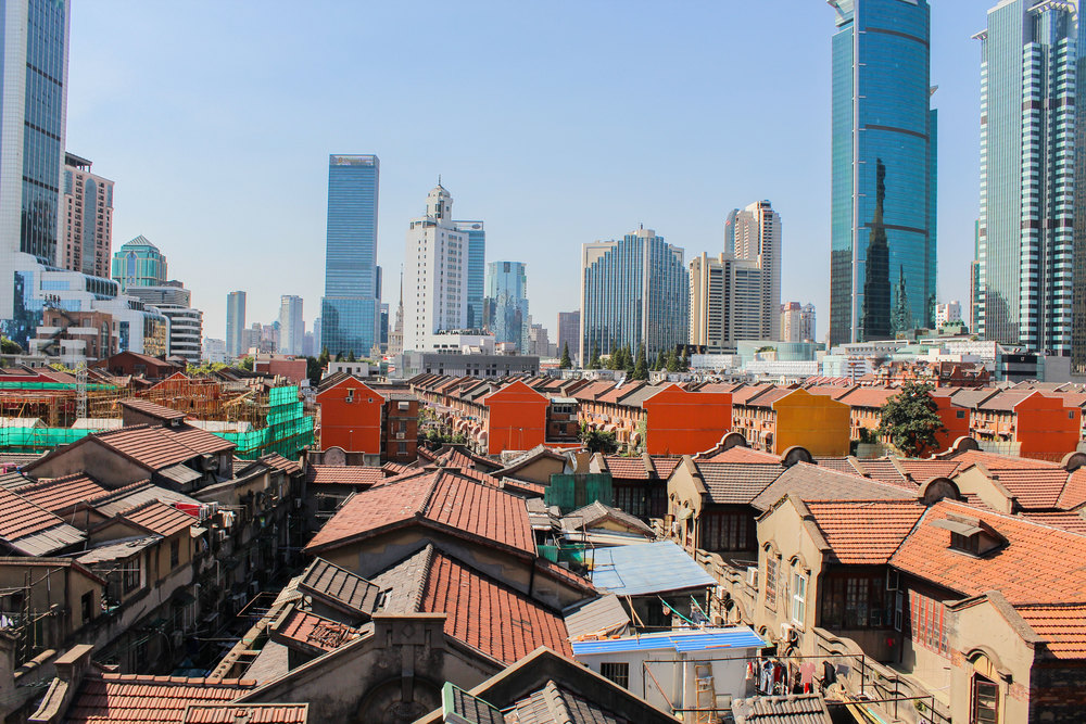 The shift from old town Shanghai to modern is abrupt to say the least
