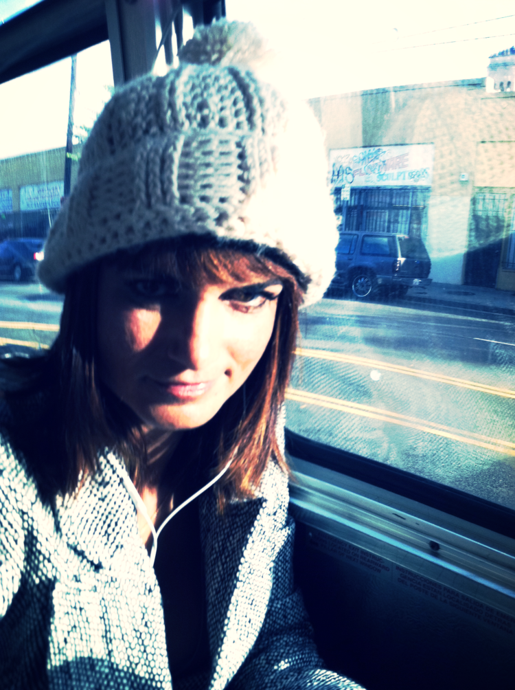 looking mad on the bus. as one does.