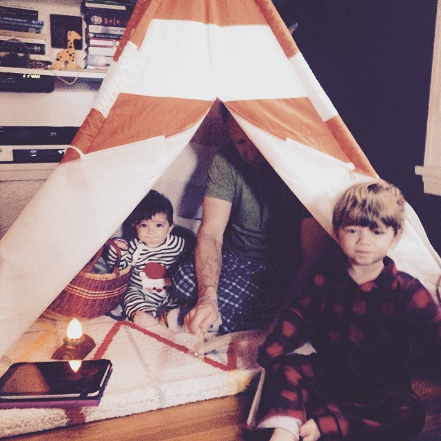 last christmas under our teepee!