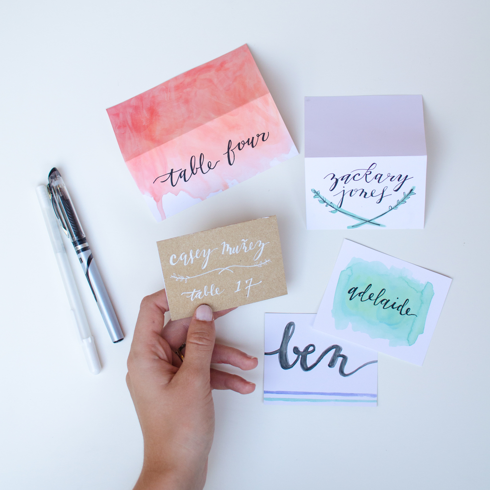 CUSTOM LETTERING PLACE CARDS STARTING AT $1 / CARD