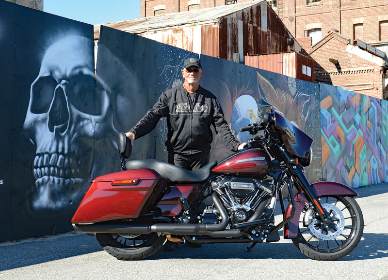 Tex with his Street Glide Special