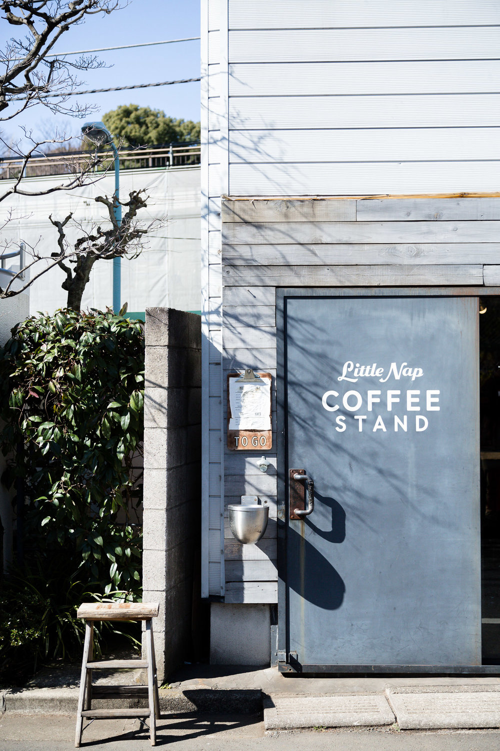 We were the first ones outside when this tiny coffee shop in Tokyo opened their doors for the day.
