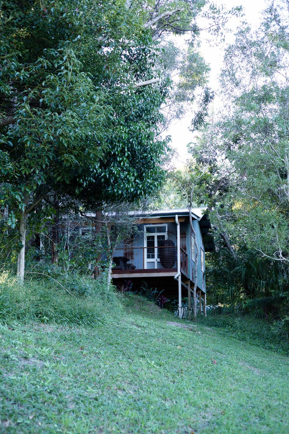 Then let's rest the night in a sweet country cabin -