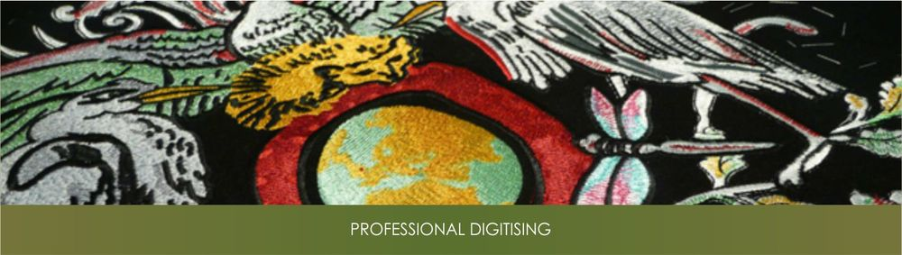 Digitize image files using state of the art embroidery digitising software.