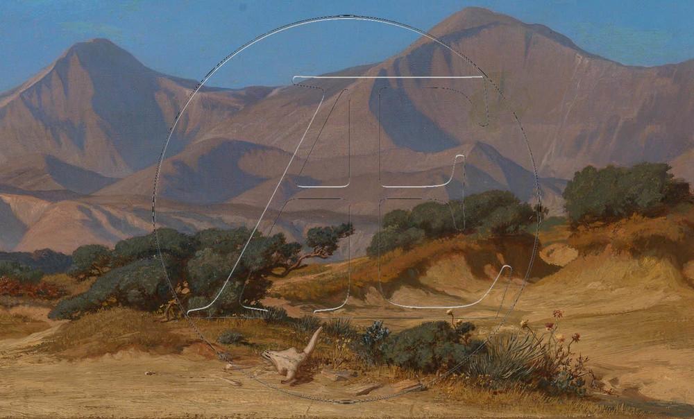 Arcady Editions - Elihu Vedder - Desolate Landscape, c.1867 –
