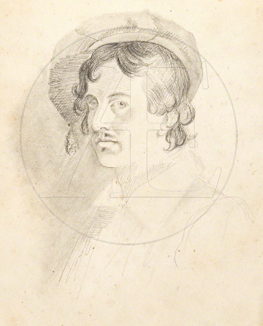 Horatio Greenough, Self-Portrait, Roman Sketch Book, McGuigan