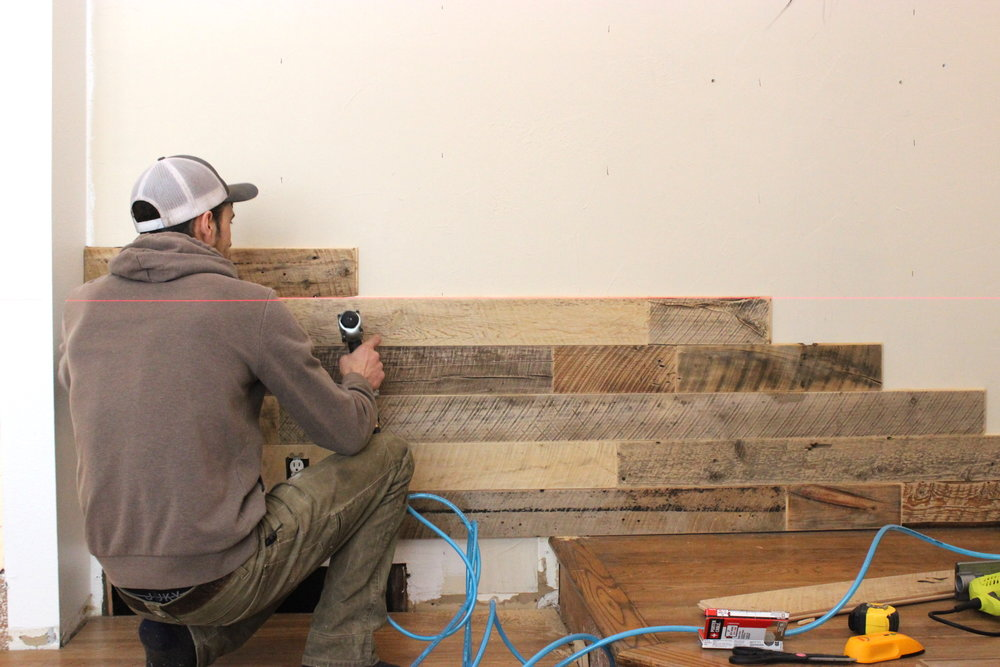 9 Reclaimed Wood Wall Check Level.JPG