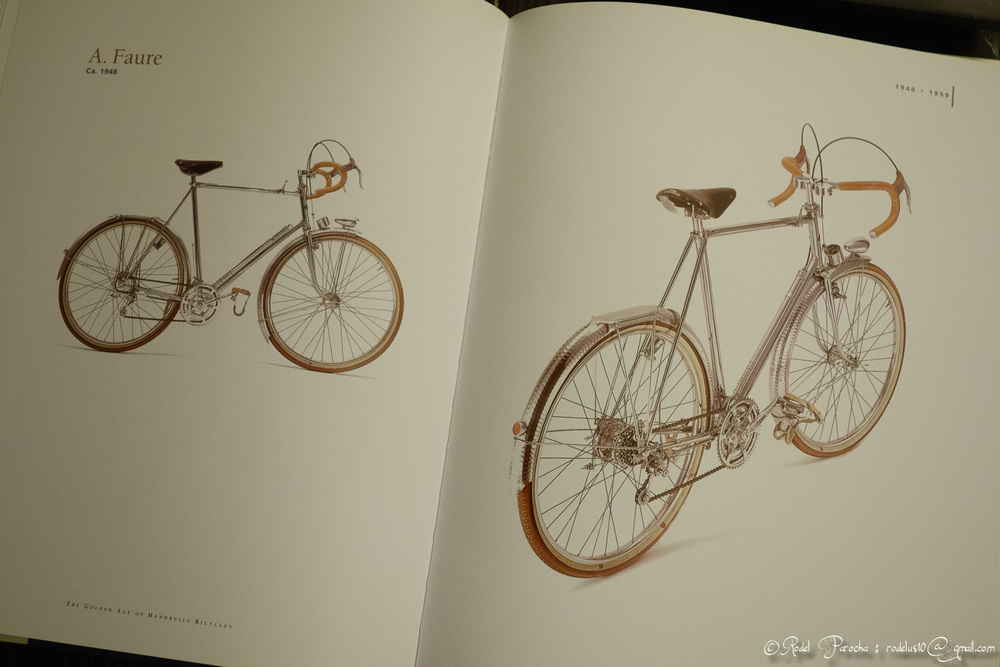 Historical bicycles from the days of artisans and constructeurs. A total feast to my eyes.