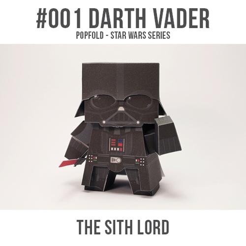 Papercarft de Darth Vader. Manualidades a Raudales.