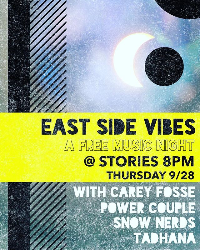 We're playing the last Thursday of September @storiesbooksandcafe with some incredible artists @eastsidevibesla ⚡️⚡️⚡️ come drink, dance, and ring in the Halloween season with us!
