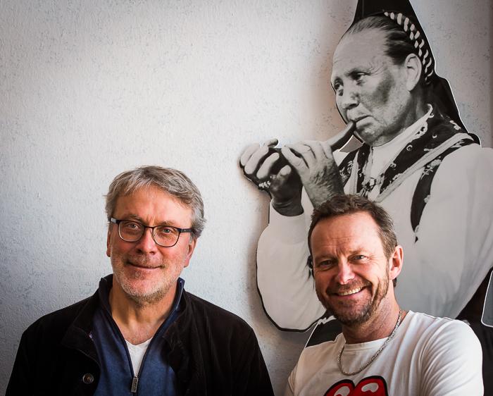 Per Gudmundson och Bengan Janson medverkar i Spelmandpodden nr 2. Foto: Torbjörn Ivarsson