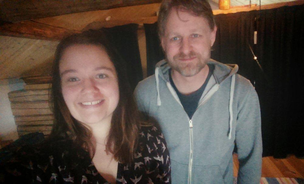 Jag och Jonas Brandin efter en dag med fokus i en del Bodalåtar! Foto: Linnea Hedvall