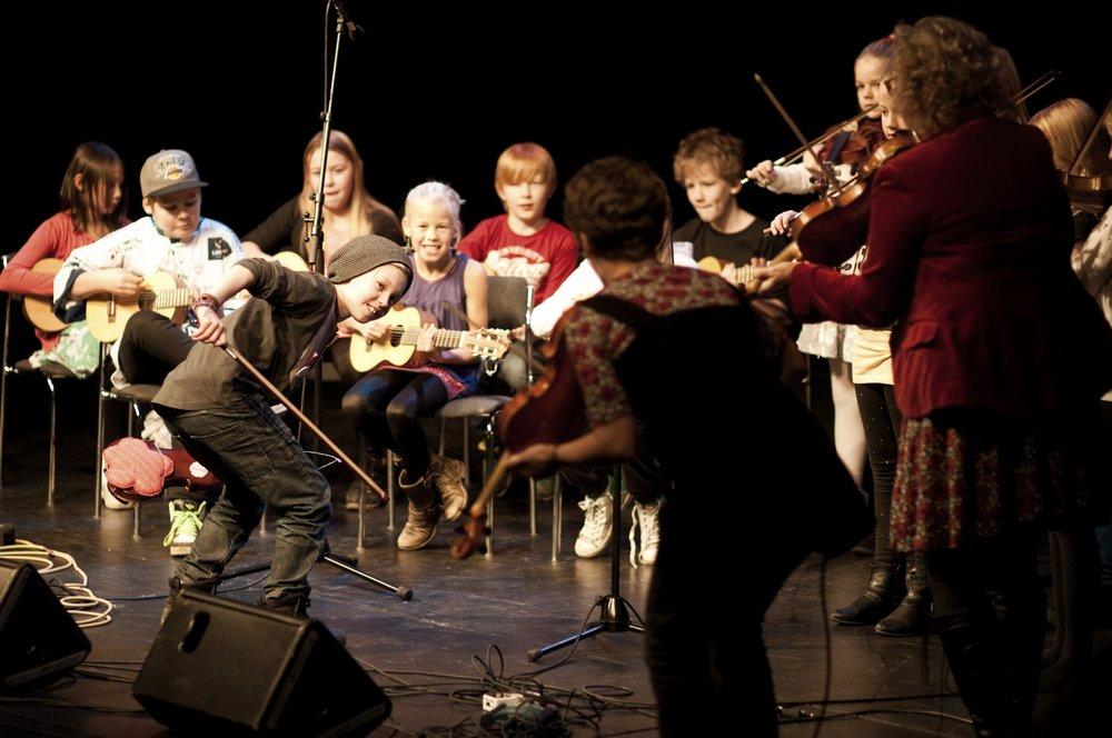 FolkUngar på Folkmusiknatta  Foto: Jon Holmén