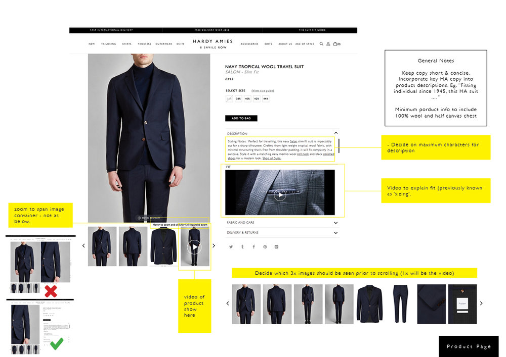 Product page consolidation to emphasise shortened and concise copy, highlight the product in further detail with video and illustrations and bing all content above the fold line