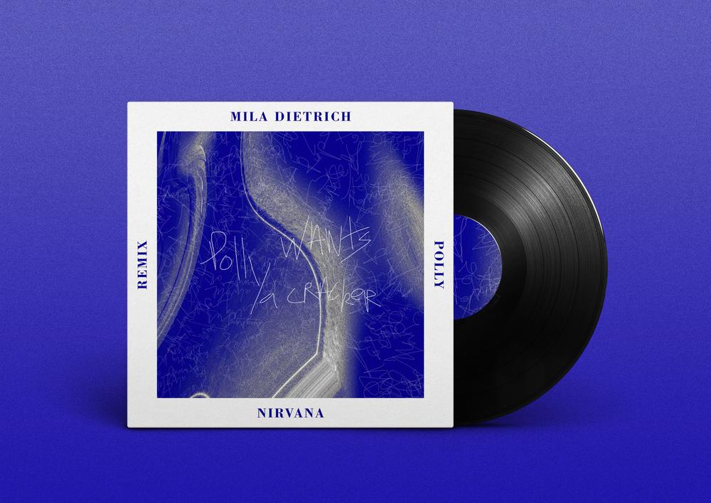 Visuel pour le remix Polly de Nirvana par Mila Dietrich -  Soundcloud  .