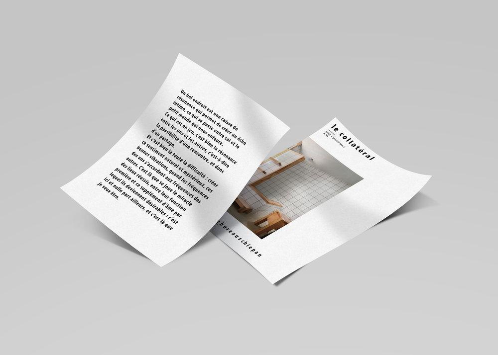 """Art direction pour """"Le Bureau Schiepan"""", 2017"""
