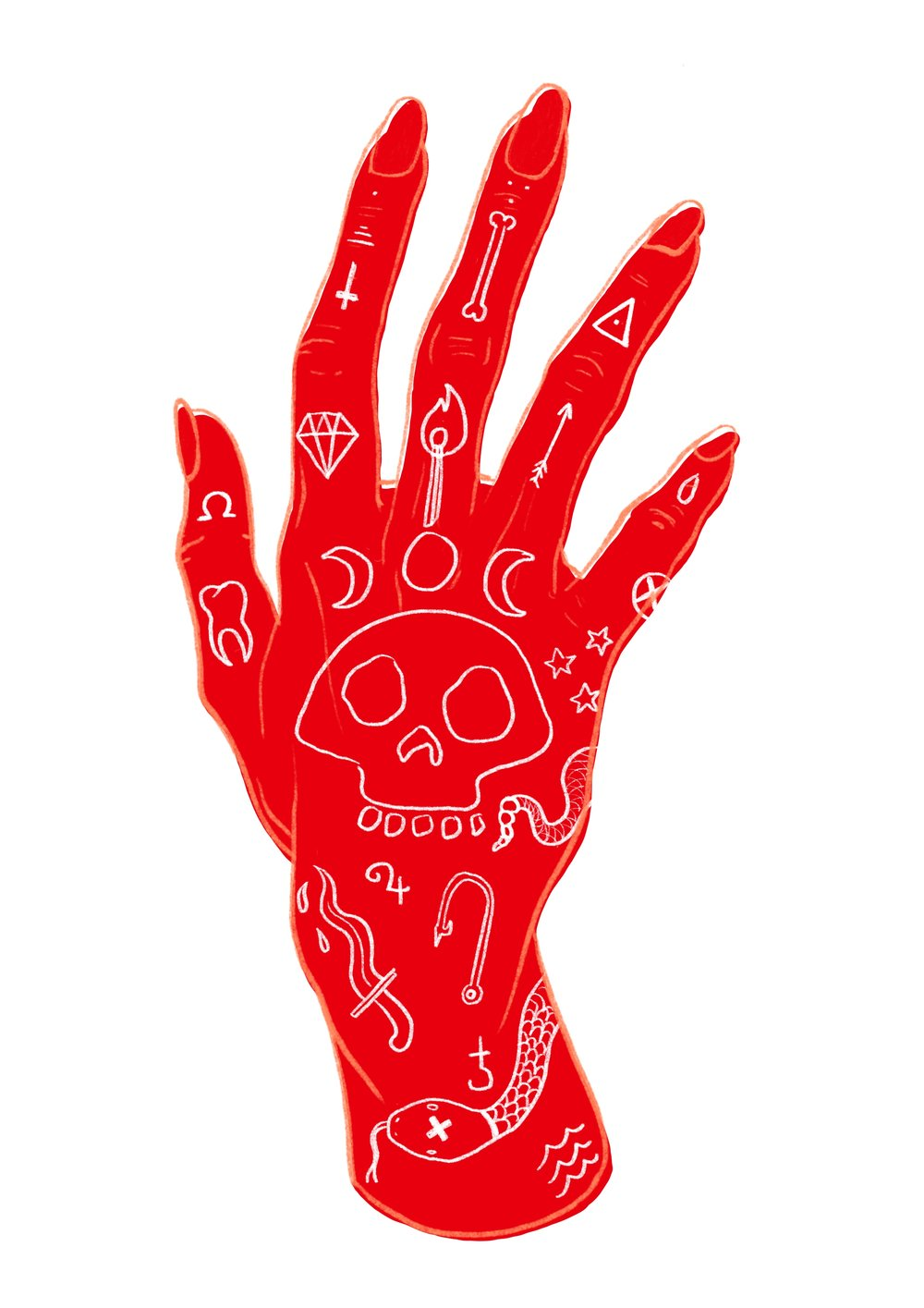 Right red hand
