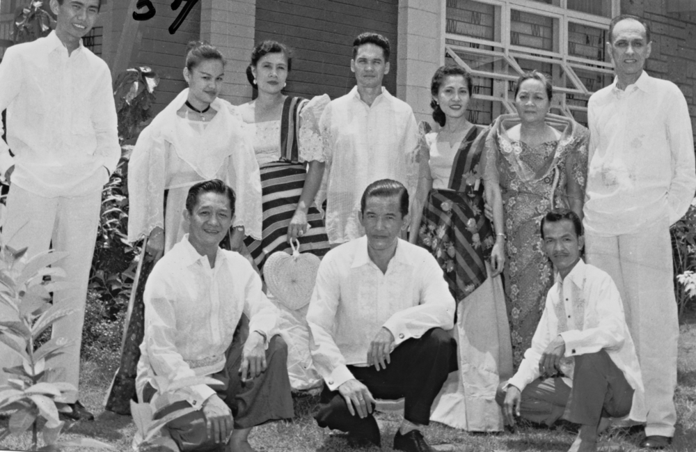 Dr. Paz-Cielo A Belmonte with husband Ramon Belmonte and Lola Kikay during their first international tour in 1957