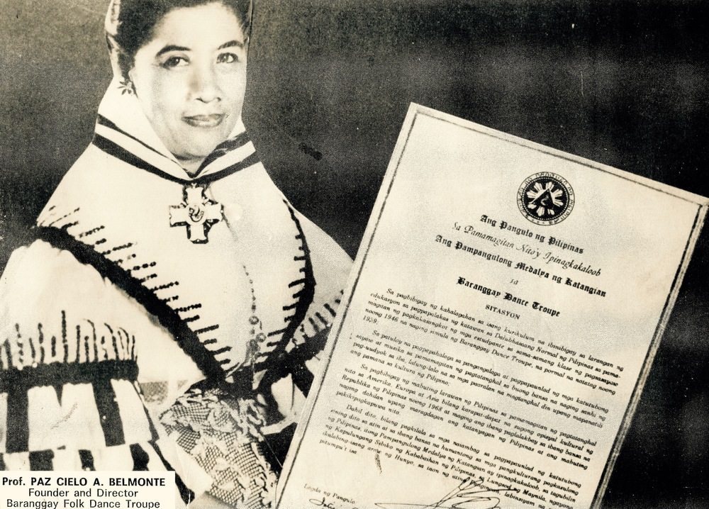 Dr Paz Cielo A Belmonte classic portrait after receiving the highest Presidential Awards - a traditional awards by the President of the Philippines to outstanding citizens and organizations known as the Presidential Medal of Merit, for outstanding contribution to ADVANCEMENT OF PHILIPPINE CULTURE.