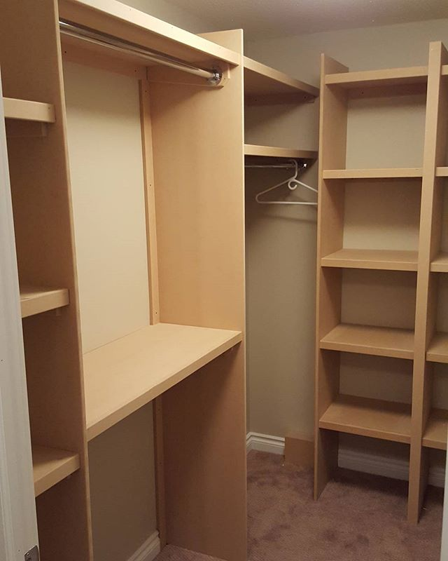 Closet organization! #customwoodwork #yeg
